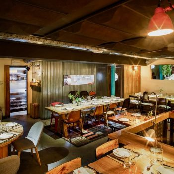 Vista con luz del restaurante La Malinche Santander