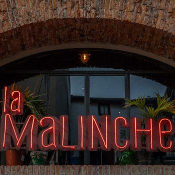 Cartel del restaurante La Malinche Santander